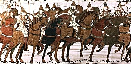 Výřez z tapisérie z Bayeux 1