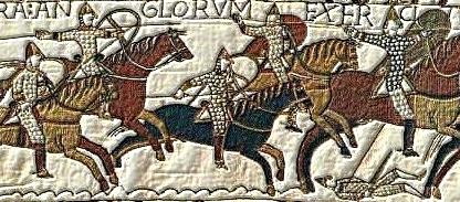 Výřez z tapisérie z Bayeux 2