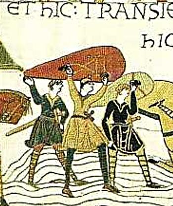 Výřez z tapisérie z Bayeux 4