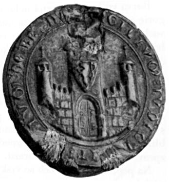 fotografie nejstarší pečeti města Brna (1247)