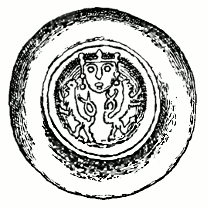 mince Přemysla II. (III.) se dvěma odvrácenými lvy