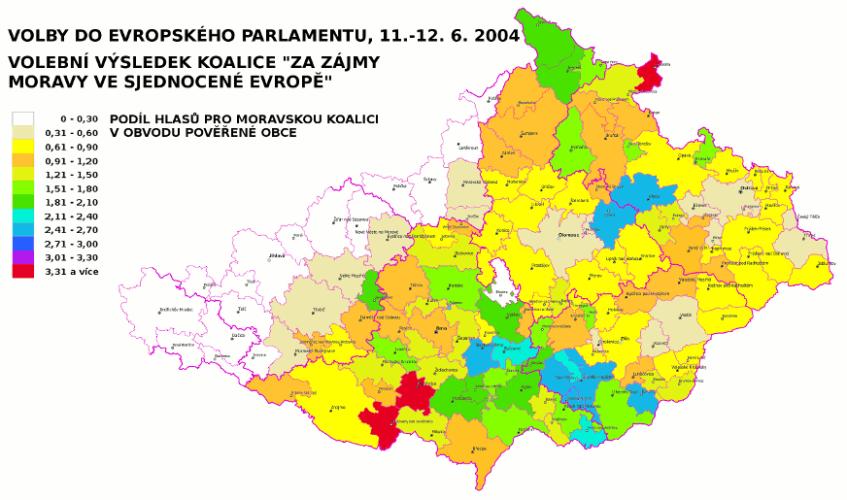 Volby do EP 2004 - strana Moravané
