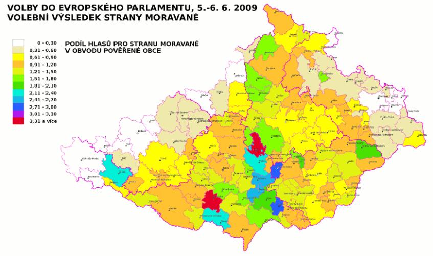 Volby do EP 2009 - strana Moravané