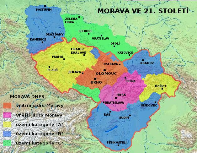 fiktivní dnešní nároky na Velkou Moravu
