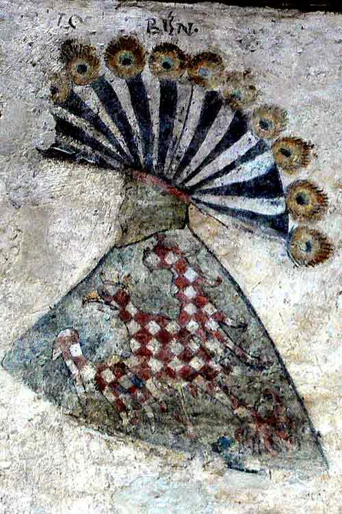moravská orlice z erbovního sálu městského hradu (Gozzoburg) v Křemži