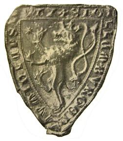 fotografie druhého typu pečeti města Hlubčic (1311)