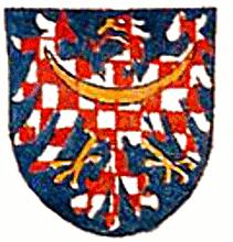 Ingeramův kodex - detail erbu moravského markraběte