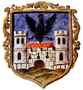 nejstarší barevné vyobrazení (většího) erbu Jemnice