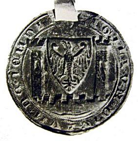 Nejstarší podoba větší pečeti Jemnice (1417)