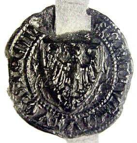 Nejstarší podoba menší pečeti Jemnice (1463)