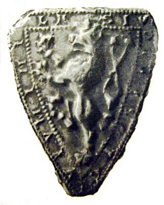 fotografie nejstarší pečeti Jihlavy (1249)