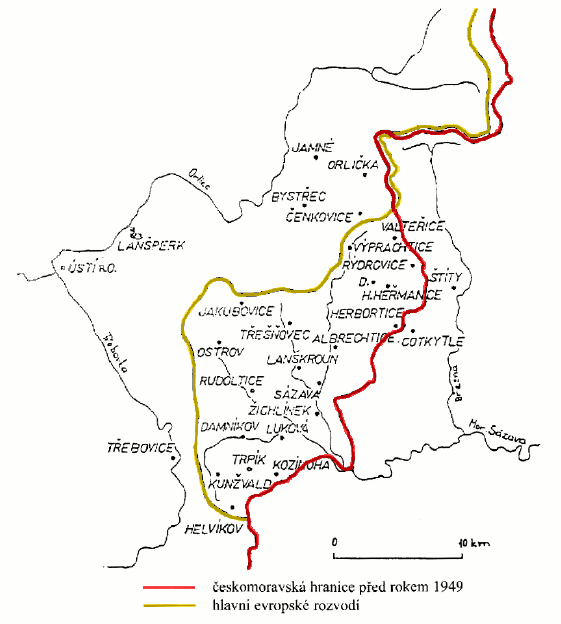 moravsko-česká hranice na Lanškrounsku