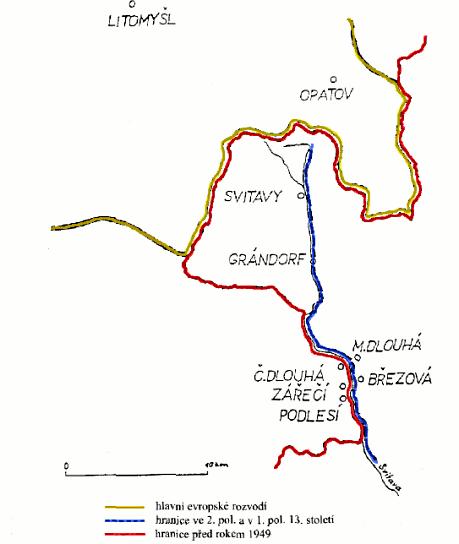 moravsko-česká hranice na Svitavsku