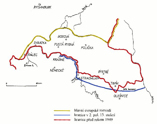 moravsko-česká hranice na Poličsku