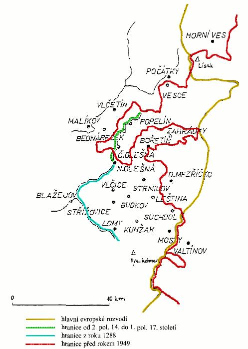 moravsko-česká hranice na Popelínsku