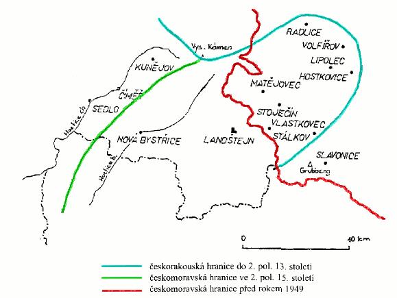 moravsko-česká hranice na Slavonicku
