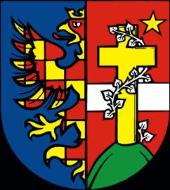 erb Mariánských Hor s polepšenou moravskou orlicí