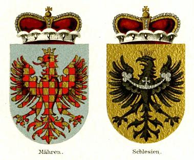moravská a slezská orlice ze 4. vydání Mayers Konversations Lexikon