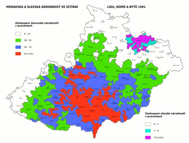 Moravská národnost ve sčítání lidu 1991