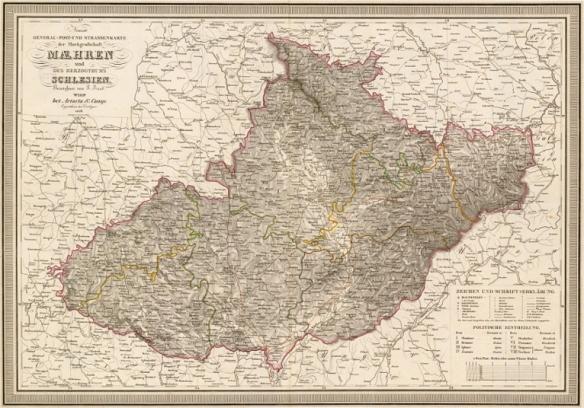 Morava - kraje 1836