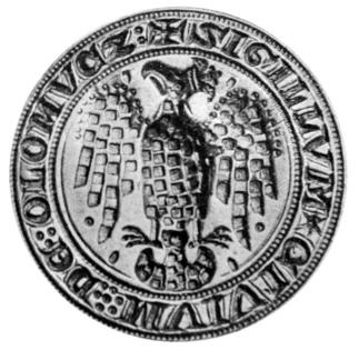 druhá pečeť města Olomouce (otisk z 1305)