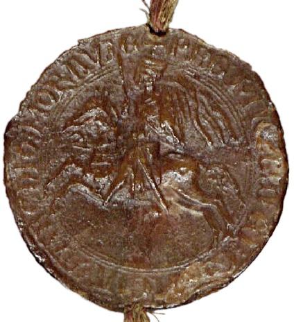fotografie pečeti markraběte Přemysla II. z roku 1233