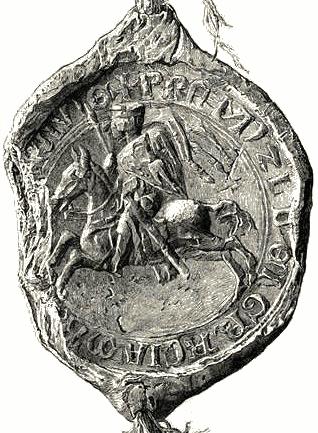 kresba pečeti markraběte Přemysla II. z roku 1233
