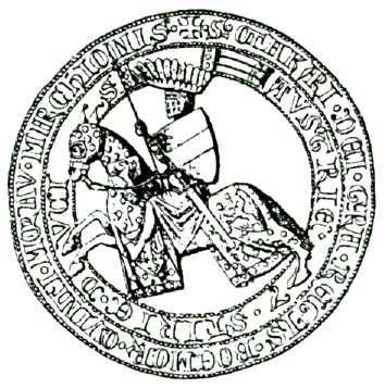 kresba aversu pečeti markraběte Přemysla III. - typ 3b