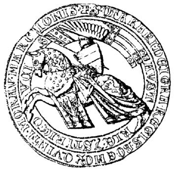 kresba aversu pečeti markraběte Přemysla III. - typ 4