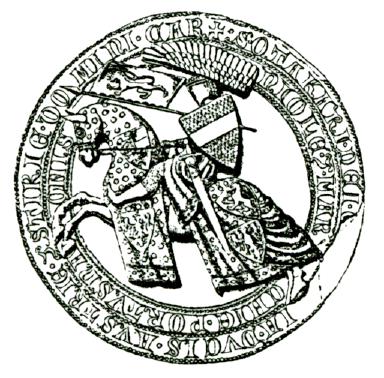 kresba aversu pečeti markraběte Přemysla III. - typ 5