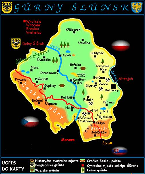 Navrhovaný hornoslezský stát (či autonomní území)