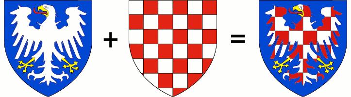 vznik moravské šachované orlice spojením orlice Andechsů a šachovnice Sponheimů