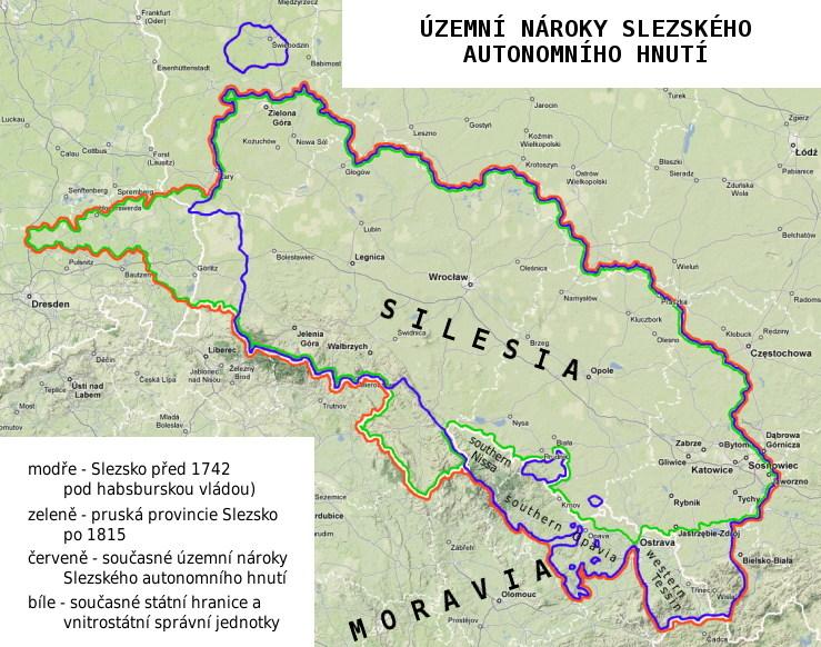 Územní nároky RAŚ (Hnutí za autonomii Slezska - Ruch Autonomii Śląska)