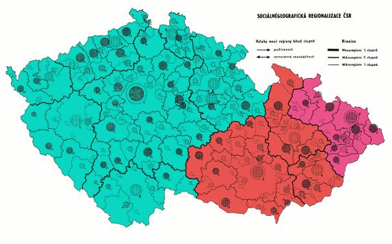 mezoregiony Moravy 1987