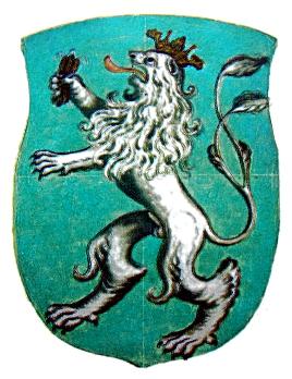 nejstarší barevné vyobrazení erbu Tišnova (1728)