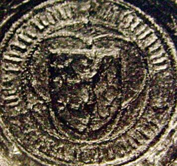 detail střední části nejstarší pečeti městečka Tišnova