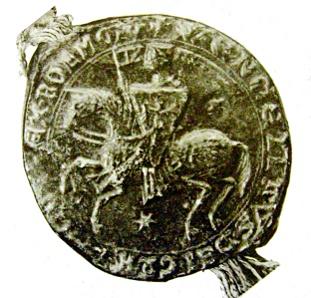 pečeť Václava I. jako mladšího krále