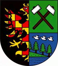 erb Vítkovic s polepšenou moravskou orlicí