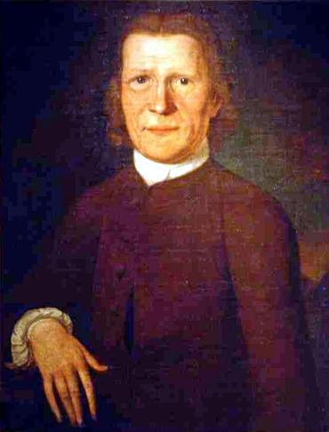 portrét Davida Zeisbergera, misionáře církve Moravských bratrů v severní Americe