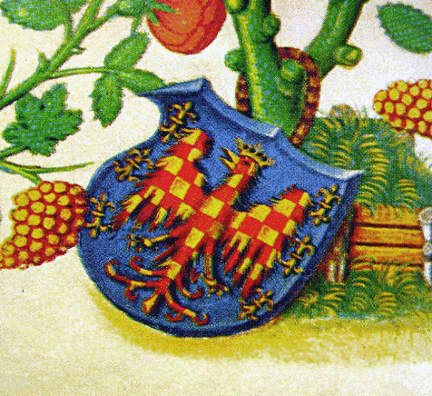 erb Znojma z městské knihy Štěpána z Vyškova