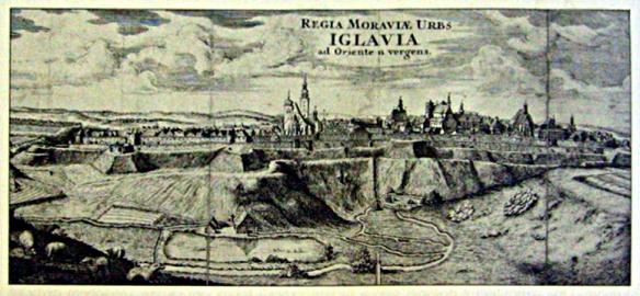 veduta Jihlavy z 18. století