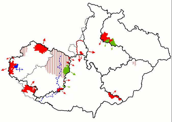 snahy obcí o přiřazení do jiného kraje (po roce 1997/2000)