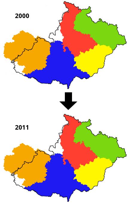 změna krajů 2000-2011