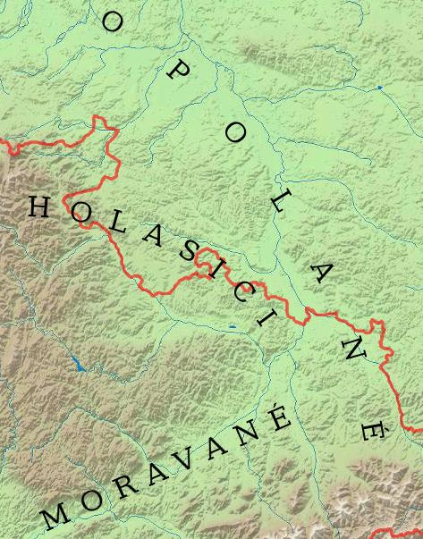 Holasici a sousední kmeny v 9. století