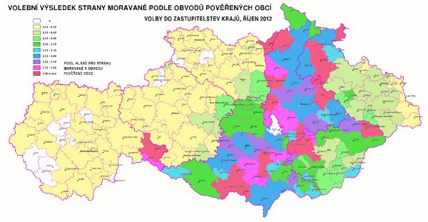 strana Moravané - krajské volby 2012