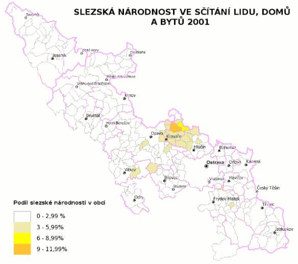 Slezská národnost ve sčítání lidu 2001