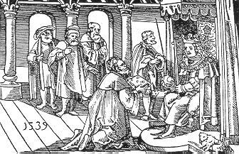 Ctibor Tovačovský z Cimburka předkládá Hádání pravdy se lží Jiřímu z Poděbrad