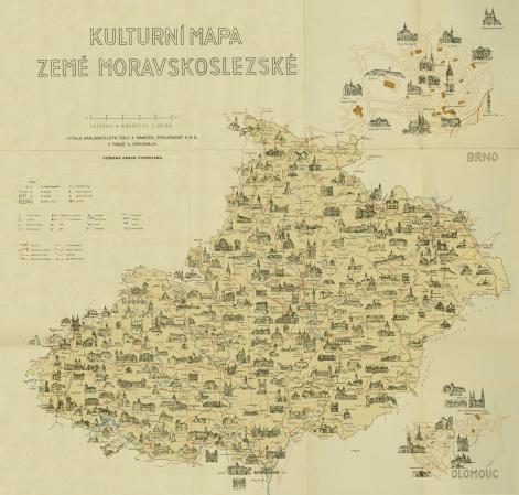 kulturní mapa země moravskoslezské