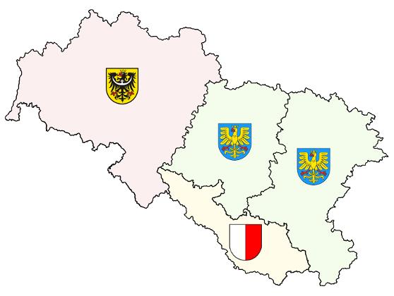 erby polského Slezska a erb Holasicka ve výhledu pro budoucnost