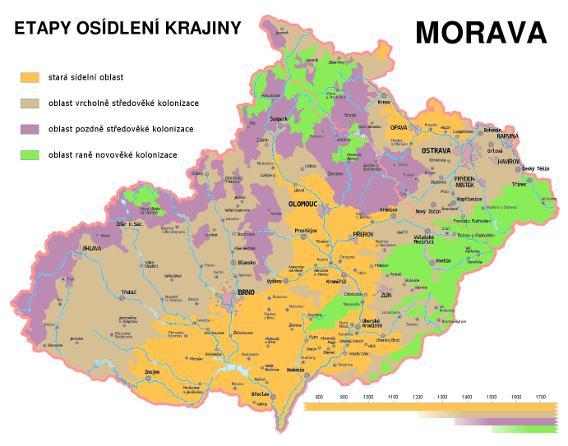Etapy trvalého osídlování moravské krajiny